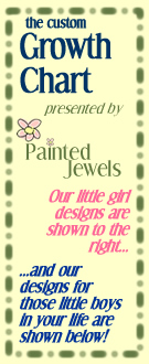 Custom handpainted growth charts, from Painted Jewels!